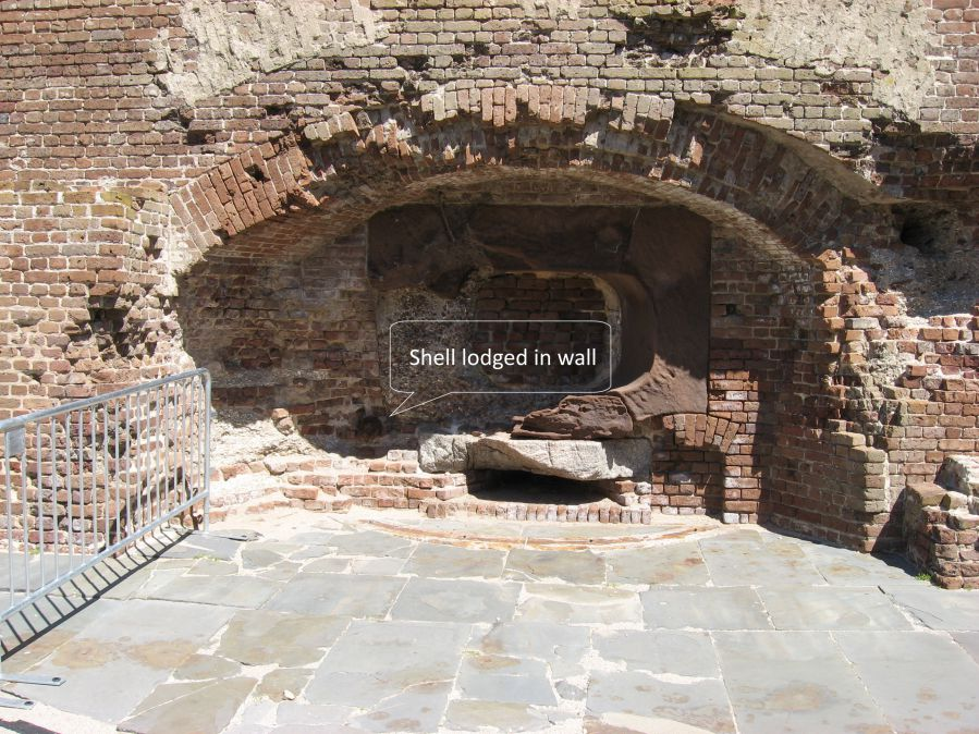 Fort-Sumter-Shel-in-wall